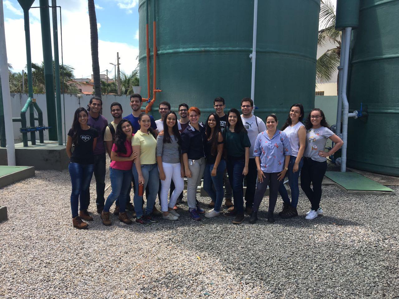 Alunos dos Cursos de Engenharia Civil e Engenharia de Produção da Unichristus visitaram a Estação de Tratamento de Esgoto do Beach Park