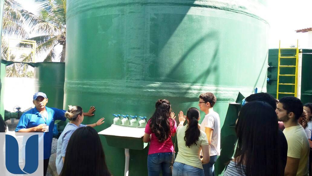 Alunos da Unichristus visitaram a Estação de Tratamento de Esgoto do Beach Park