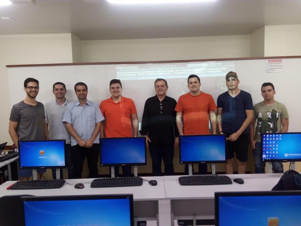 Os alunos do Curso de Engenharia Civil da Unichristus participaram do Curso Projeto e Planejamento de Canteiro de Obras