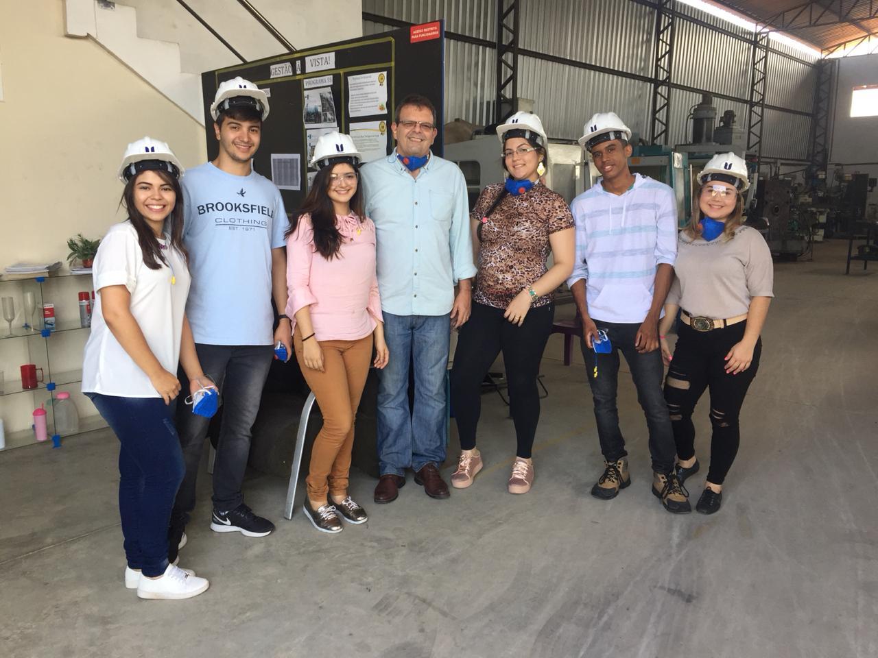 Alunos dos Cursos de Engenharia de Produção da Unichristus visitaram a Exacta Ferramentaria e Usinagem