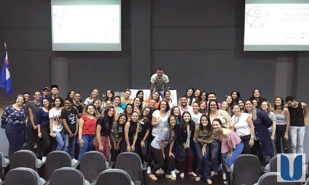 Os alunos dos cursos de Biomedicina, Fisioterapia e CST em Radiologia participaram de uma palestra sobre Acessibilidade